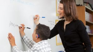 Teaching strategies for the hearing impaired children